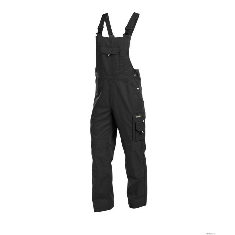 DASSY schwarze Hosenträger mit Knietaschen und Segway-Logo.