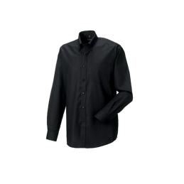 RUSSELL HEMD R-932M zwart met geborduurd SEGWAY logo